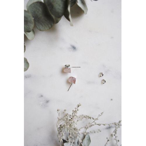 Náušnice Mini Rose Quartz/Silver