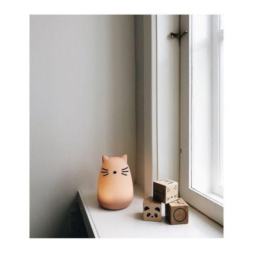 Dětská noční lampička Cat Rose