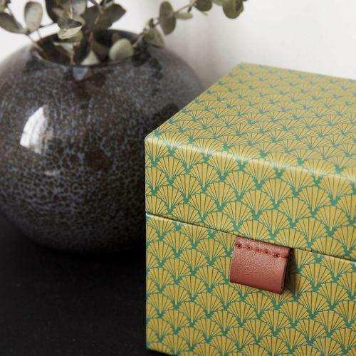 Úložný čtvercový box S Fan Green