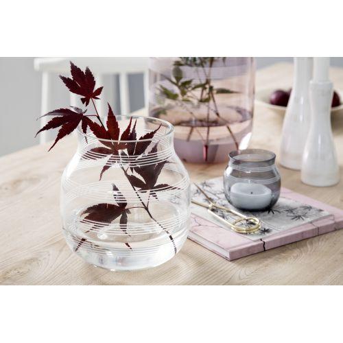 Skleněný svícen / váza Omaggio Steel Blue 7,5 cm
