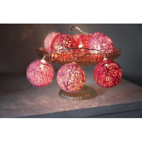 Světelný lampionový řetěz Jolly Pink