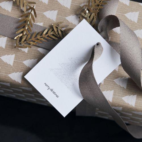 Papírové cedulky na dárky Glitr Silver