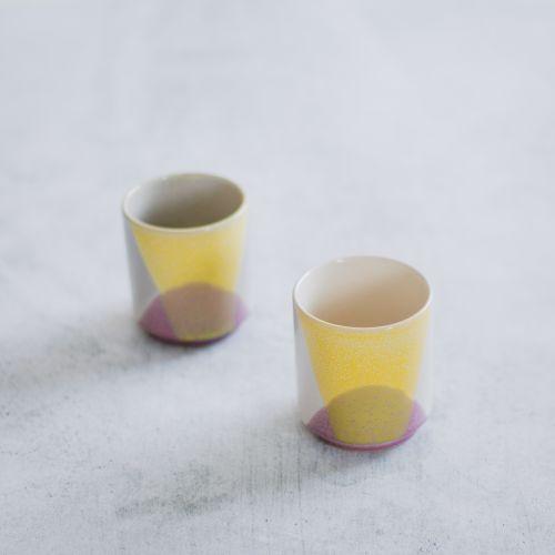 Keramický hrneček 80's Lilac & Yellow