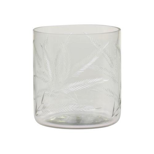 Svícen Clear Cut Glass 10cm
