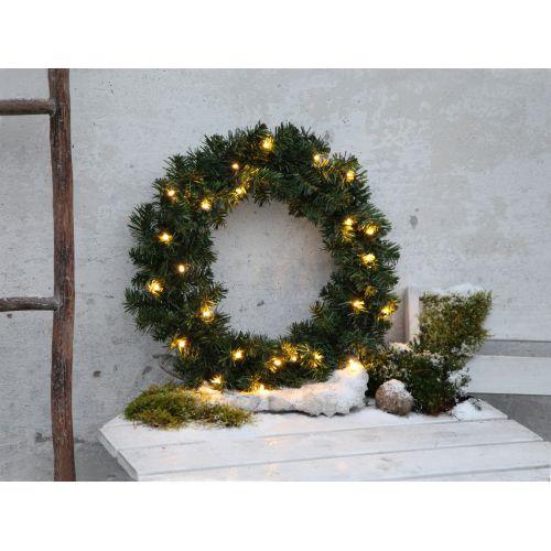 Svítící vánoční věnec - Alaska - 34 cm