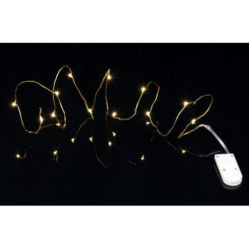 Svítící LED drátek Brass String