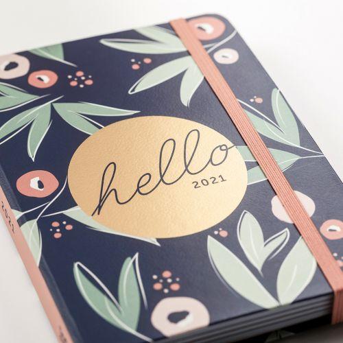 Týdenní plánovací diář To Do Floral A6 2021