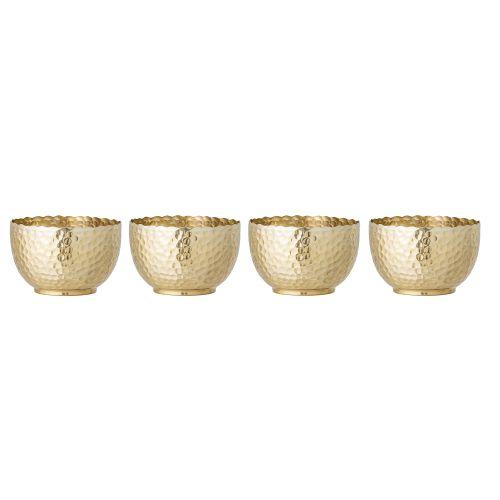 Kovová miska Camelia Gold - Set 4 ks