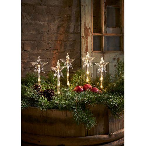 Venkovní vánoční LED osvětlení Wandy - Set 5 ks
