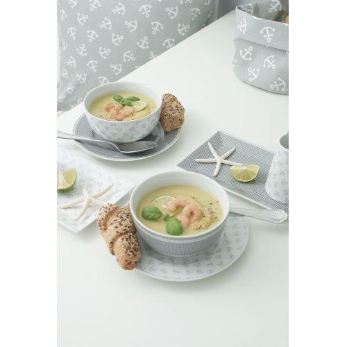 Porcelánový talíř Grey Anchors