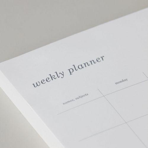 Týdenní plánovač Simply White