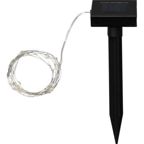 Světelný LED drátek na solární napájení - 50 žárovek