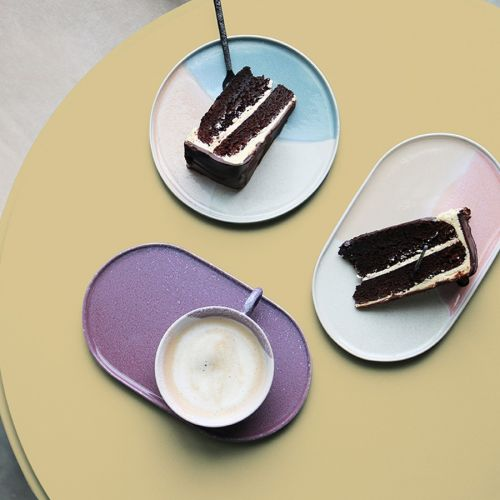 Oválný keramický talíř Lilac Ceramic
