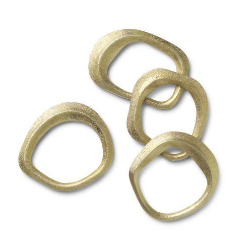 Kroužky na ubrousky Brass - set 4 ks