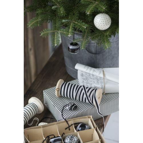 Dekorativní bavlněná stuha White/Black