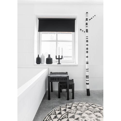 Koupelnová předložka Round Black 60cm