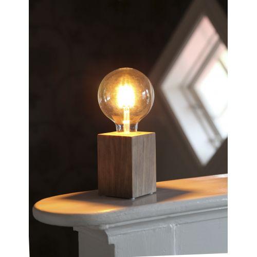 Dřevěná lampa Lys Brown