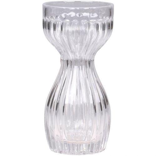 Skleněná váza Amaryllis Grooves 18 cm