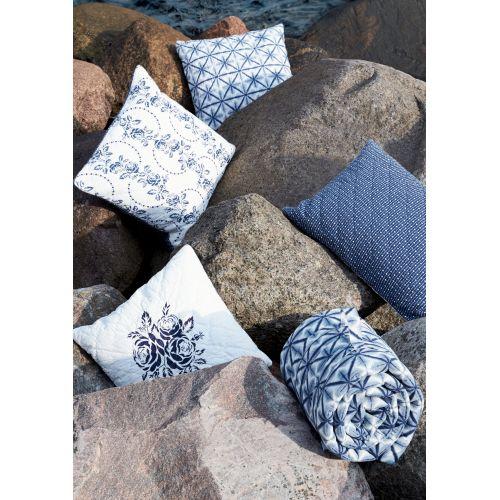 Prošívaný povlak na polštář Lia blue 50x50