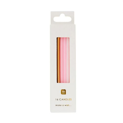 Dortové svíčky We Heart Pink - 16 ks