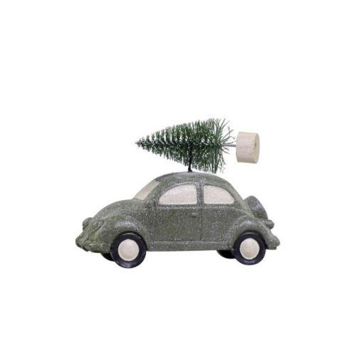 Adventní dekorace Green Beetle With Tree