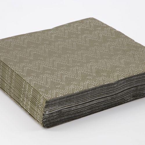Papírové ubrousky Ski Dark Green 40 ks