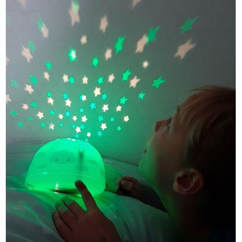 Lampička s projektorem noční oblohy Cloud