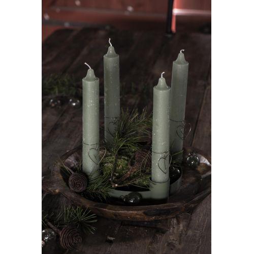 Vánoční baňka Pebbled Glass Moss Green Mini - set 8 ks