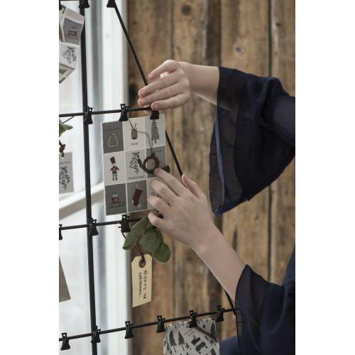 Stolní adventní kalendář s klipy Tree Black