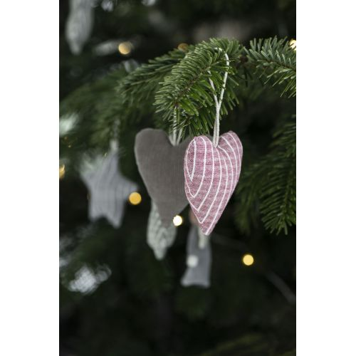 Vánoční textilní ozdoba Textile Heart