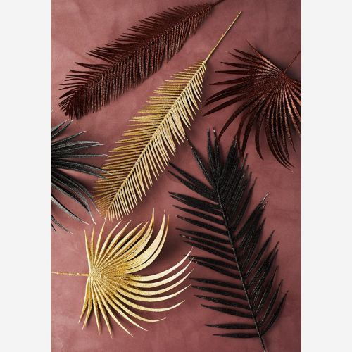 Dekorativní list s flitry Copper Black Gold Round