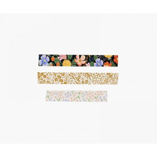Designová papírová páska Straberry Fields - set 3 ks