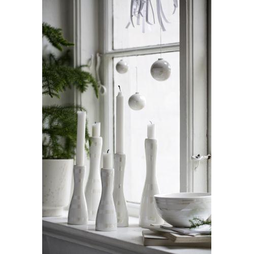 Keramický svícen Omaggio Pearl 20 cm