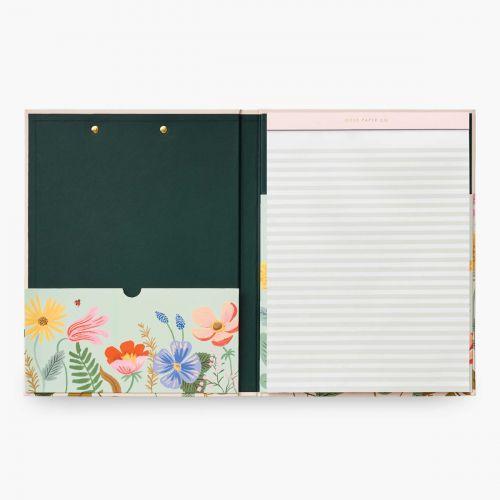 Desky s trhacím blokem Clipfolio Strawberry Fields