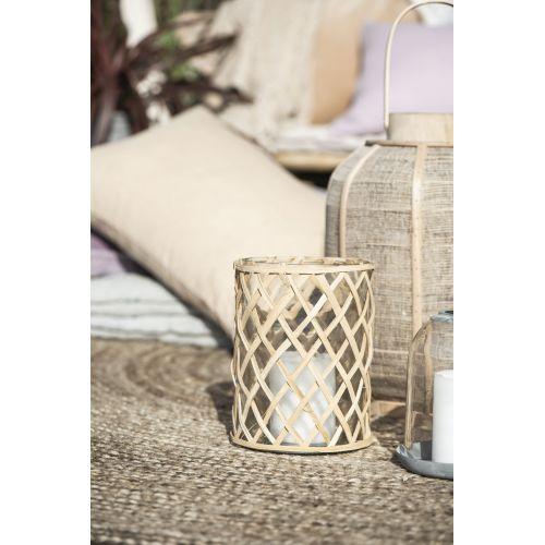 Skleněný svícen Bamboo Braid