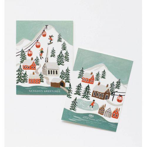 Vánoční přání s obálkou Snow Scene