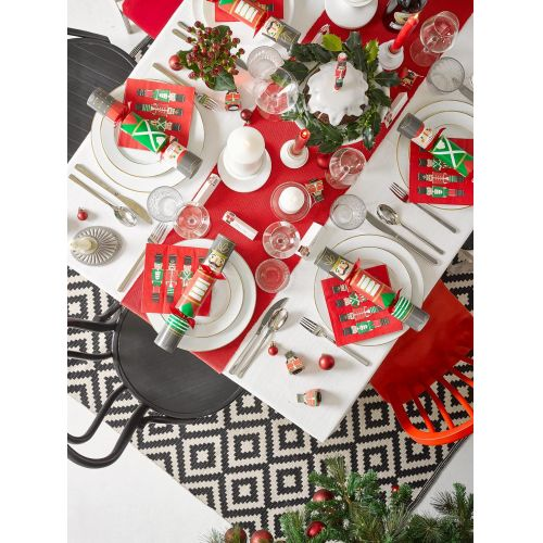 Vánoční papírové ubrousky Botanical Nutcracker