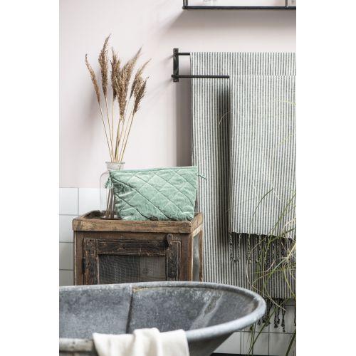 Bavlněný ručník Hammam Black Stripes
