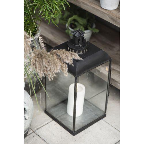 Velká skleněná lucerna Black