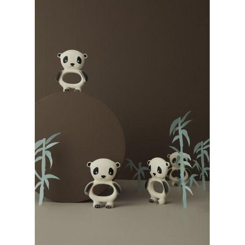Gumové kousátko pro miminka Panda Off White