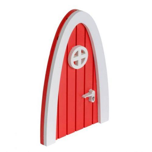 Dřevěná dvířka pro víly + samolepky Fairy door