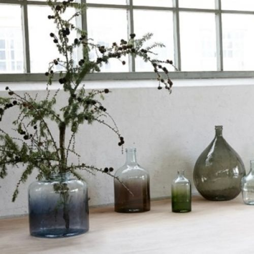 Váza Bottle Green