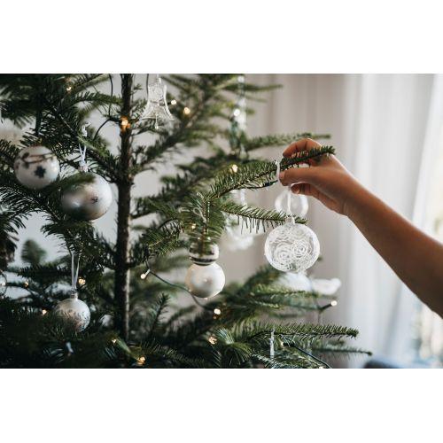 Vánoční baňka Rose Matt grey - 6 cm