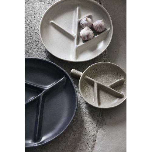 Kameninový servírovací talířek Branch Grey