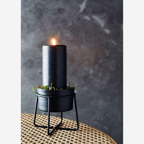 Kovový obal na květináč Black Iron Pot