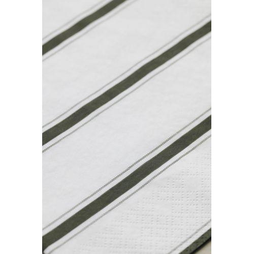 Papírové ubrousky Stripe Dusty green 40 ks
