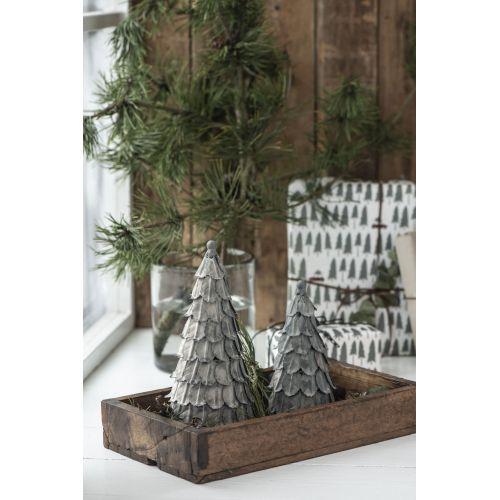 Dekorativní kovový stromeček Zinc 20 cm