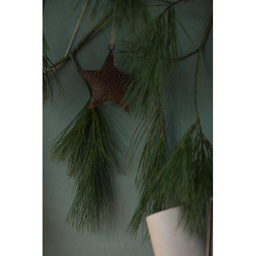 Kovová vánoční ozdoba Ornament Star Rust