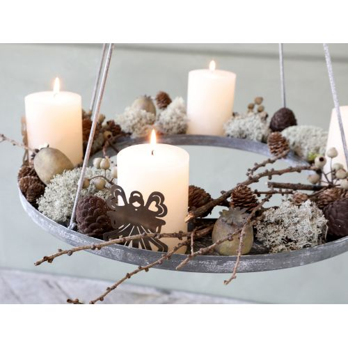 Velurová vánoční ozdoba Pinecone Mocca 4,5 cm