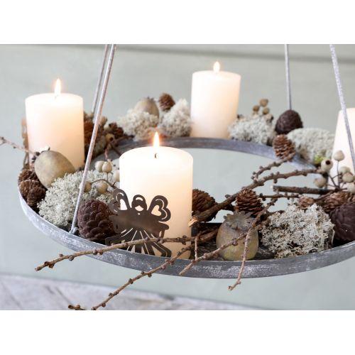 Velurová vánoční ozdoba Pinecone Mocca 7,5 cm